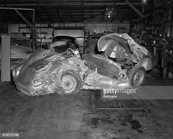 The Wrecked Remains Of The James Dean S Porsche 550 Spyder