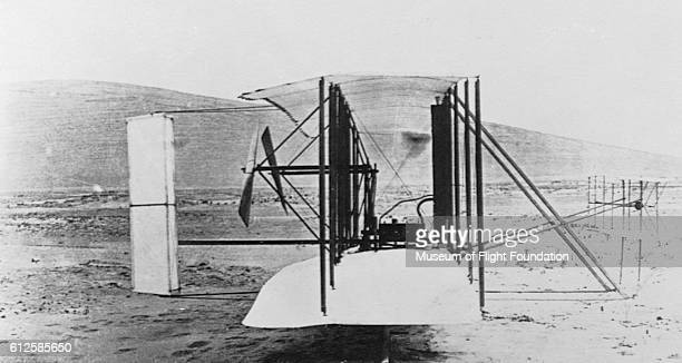 The Wright Flyer 1903 prototype model biplane which made the first powered flights with 3axis control