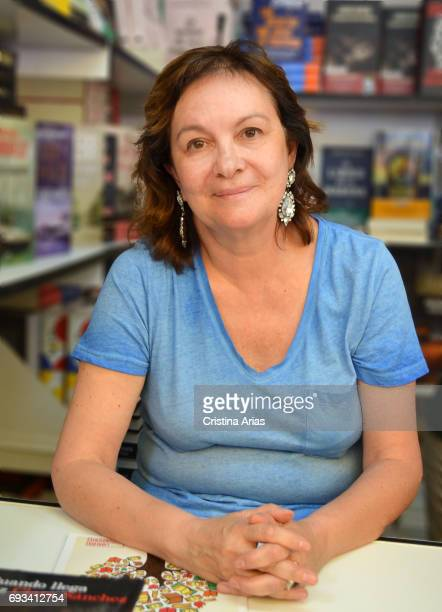 The writer and teacher Clara Sanchez attends Book Fair 2017 at El Retiro Park on May 28 2017 in Madrid Spain