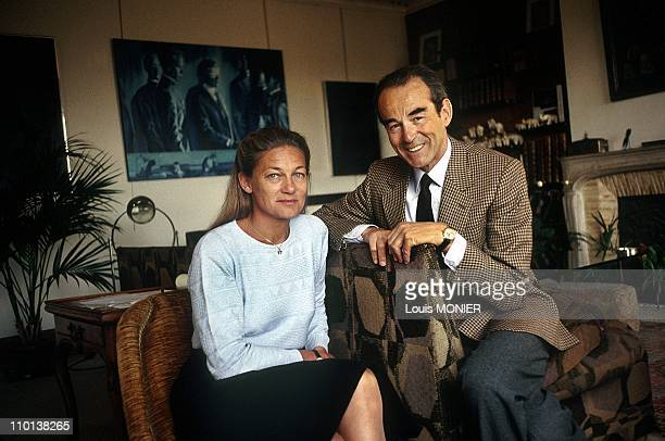 The writer Elisabeth Badinter with her husband Robert Badinter in France on July 1992