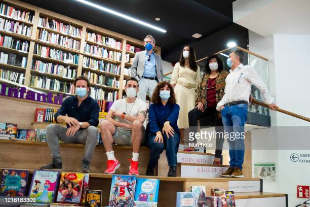 the writer Elvira Lindo during the signing of her book in the reopening of the bookshop La Casa del Libro de Gran Vía after the Covid19 crisis in...