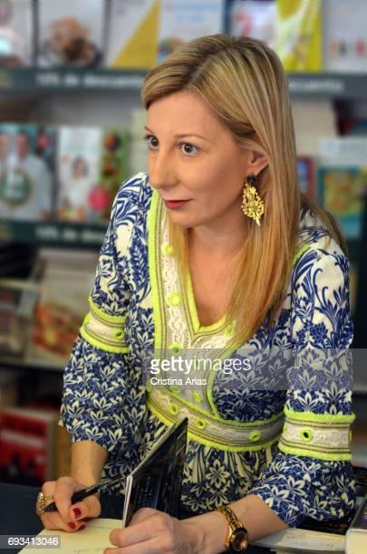 The writer Eva García Saenz de Urturi attends Book Fair 2017 at El Retiro Park on June 3 2017 in Madrid Spain