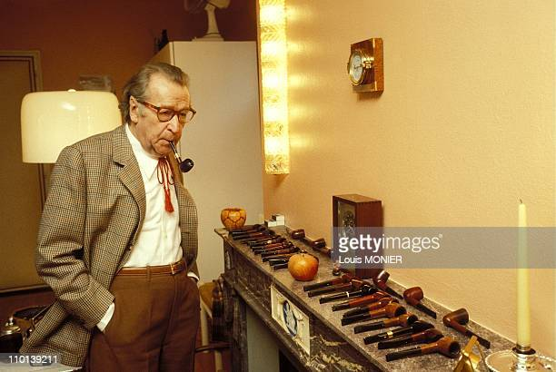 The writer Georges Simenon in France in October 1981.
