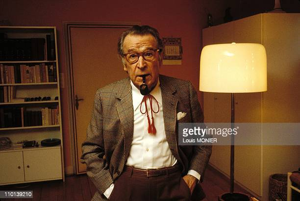 The writer Georges Simenon in France on October 1981.