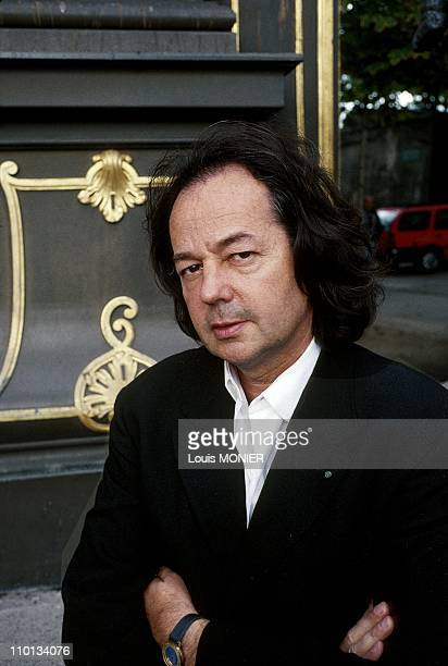 The writer Gonzague Saint Bris in France on September 29 1996