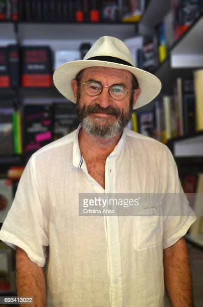The writer Juan Madrid attends Book Fair 2017 at El Retiro Park on June 3 2017 in Madrid Spain