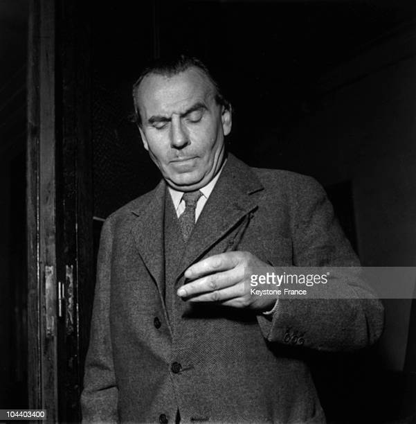 The writer LouisFerdinand CELINE in the corridors of the Palais de Justice Paris He brought an action against JUILLARD editions They had published...