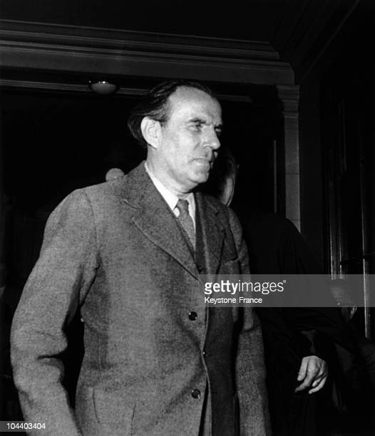 The writer LouisFerdinand CELINE in the corridors of the Palais de Justice He brought an action against JUILLARD editions They had published Ernest...