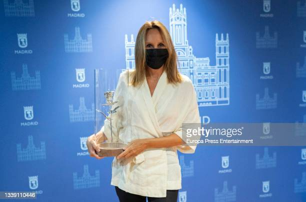 The writer Maria Dueñas, at the International Press Club International Journalism Awards Ceremony, at the Retiro Park, on September 8 in Madrid,...