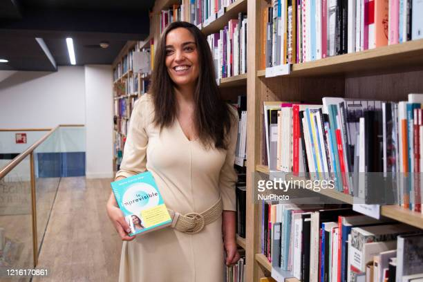the writer Marta García Aller during the signing of her book in the reopening of the bookshop La Casa del Libro de Gran Vía after the Covid19 crisis...