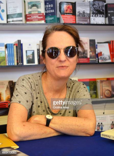 The writer Marta Sanz attends Book Fair 2017 at El Retiro Park on June 3 2017 in Madrid Spain