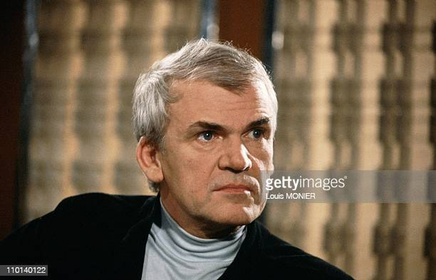 The writer Milan Kundera in France in June 1981