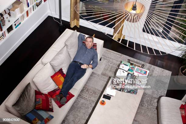 The writer Pierre Lemaitre is photographed for Paris Match on November 30 2017 in Paris France
