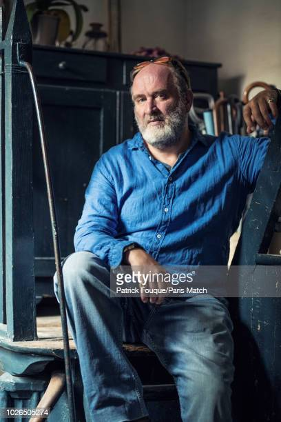 The writer Serge Joncour is photographed for Paris Match on August 21 2018