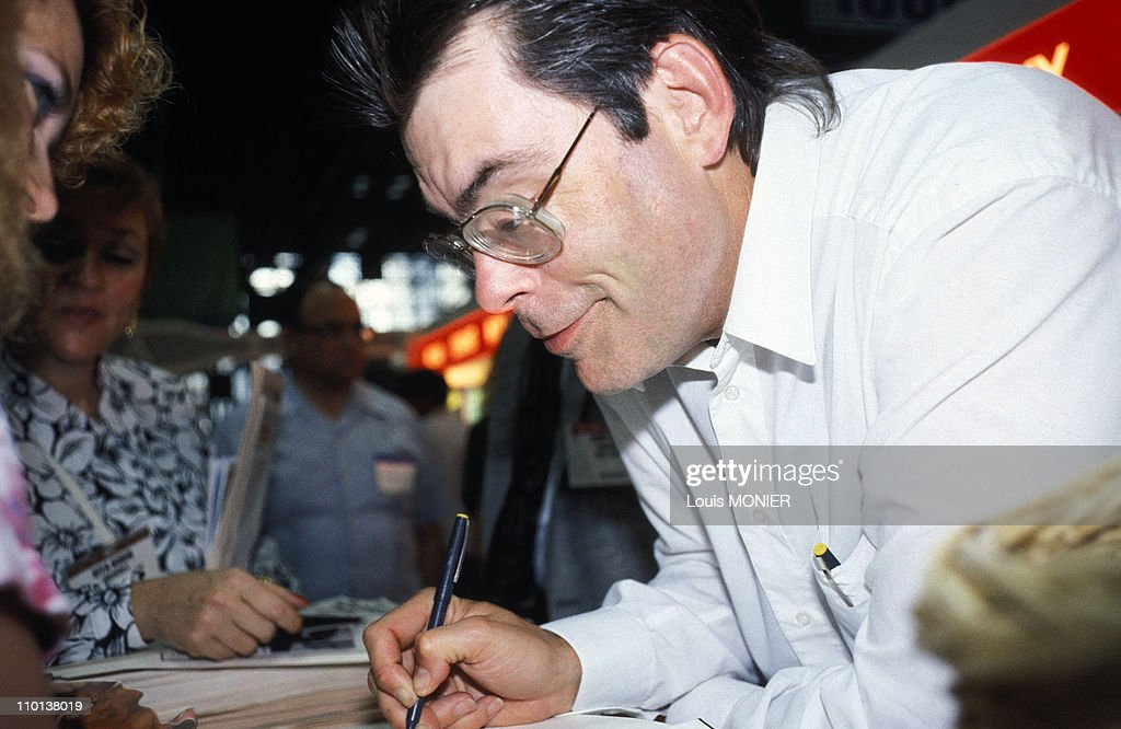 The writer Stephan King in New York, United States in June, 1991. : News Photo