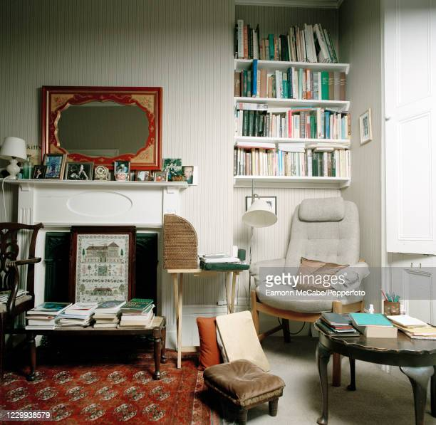 The writing room at the home of British author Dame Penelope Lively in London, circa October 2007. For this series of images, award-winning...