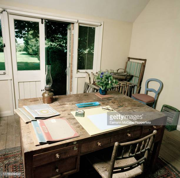 The writing room at the home of English author Virginia Woolf in Rodmell, Sussex, circa June 2008. For this series of images, award-winning...