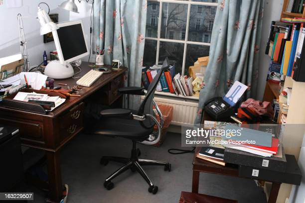 The writing room of British novelist Sebastian Faulks in London 7th January 2009