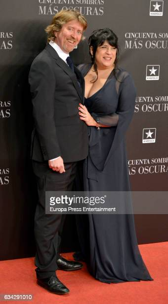 The writter E L James and her husband Niall Leonard attend 'Fifty Shades Darker' premiere at Kinepolis cinema on February 8 2017 in Madrid Spain