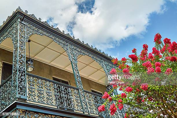 The wrought iron lace of a french Quarter Balcony