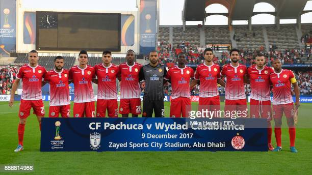 The Wydad Casablanca team pose for a team photo prior to the FIFA Club World Cup match between CF Pachuca and Wydad Casablanca at Zayed Sports City...