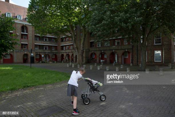 The Wyndham and Comber housing estate on 24th June 2016 in London United Kingdom The Wyndham and Comber is a council estate in the Camberwell area of...