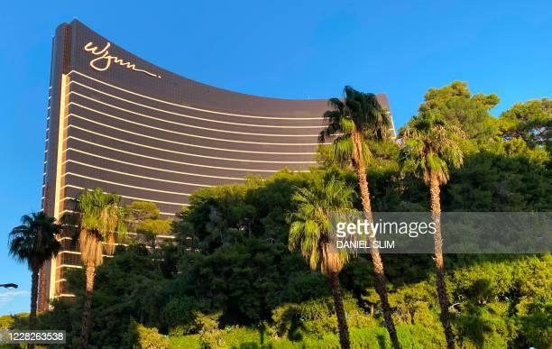 The Wynn hotel is seen in Las Vegas, Nevada, on August 29, 2020.