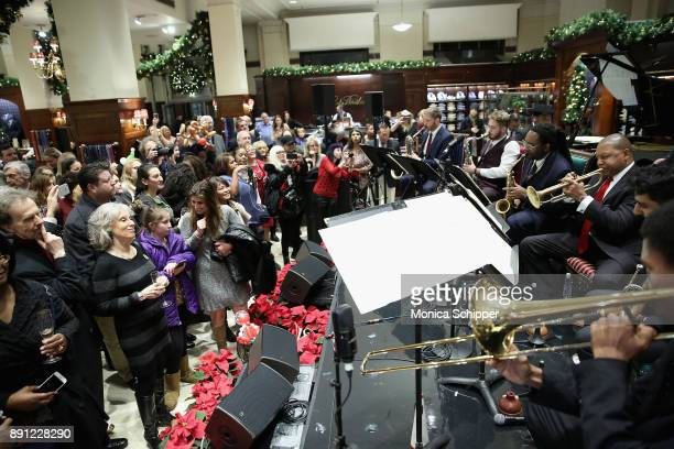 The Wynton Marsalis Ensemble performs onstage as Brooks Brothers celebrates the holidays with St Jude Children's Research Hospital on December 12...