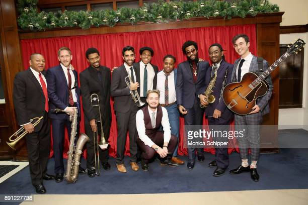 The Wynton Marsalis Ensemble poses before performing as Brooks Brothers celebrates the holidays with St Jude Children's Research Hospital on December...