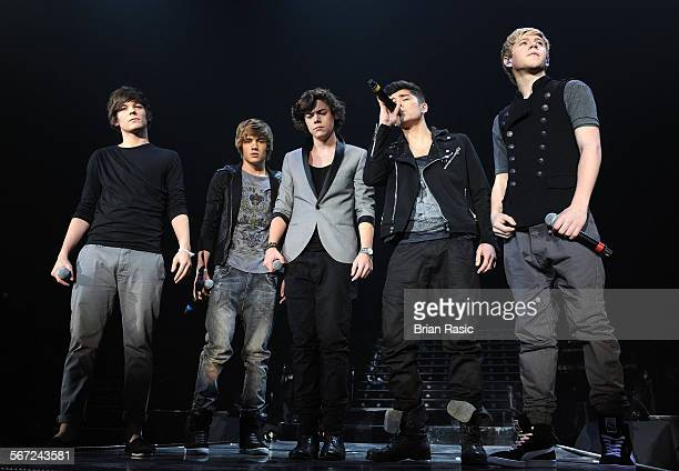 The X Factor Live Tour Wembley Arena London Britain 06 Mar 2011 One Direction Louis Tomlinson Liam Payne Harry Styles Zayn Malik And Niall Horan