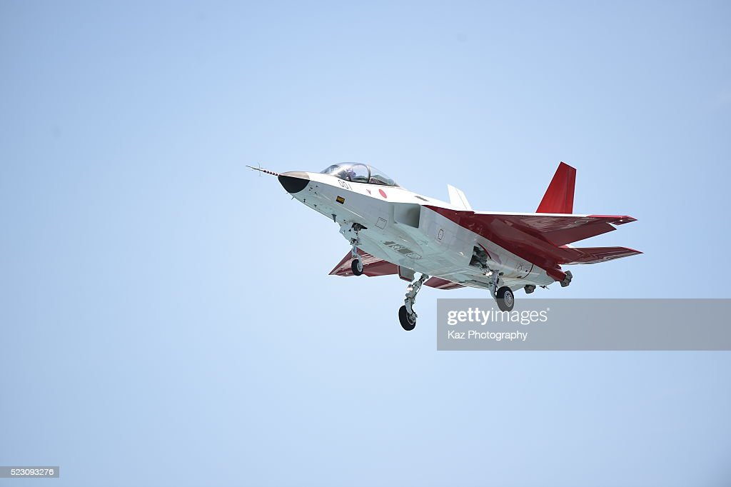 Japan's New Stealth Fighter Jet Makes Its First Test Flight : News Photo