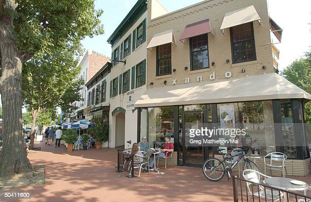 The Xando Coffee Shop, which missing intern Chandra Levy reportedly frequented.