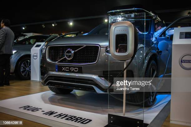The XC90 electric car by Volvo is displaying during the International Motor Show Bogota 2018 at Corferias Convention Center on November 11 2018 in...