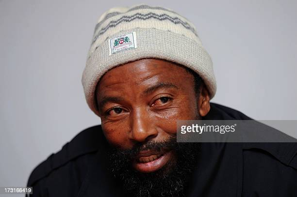 The Xhosa king who rules the Thembu tribe to which the Mandela family belongs King Buyelekhaya Dalindyebo gives a media briefing in Bumbane on July 4...