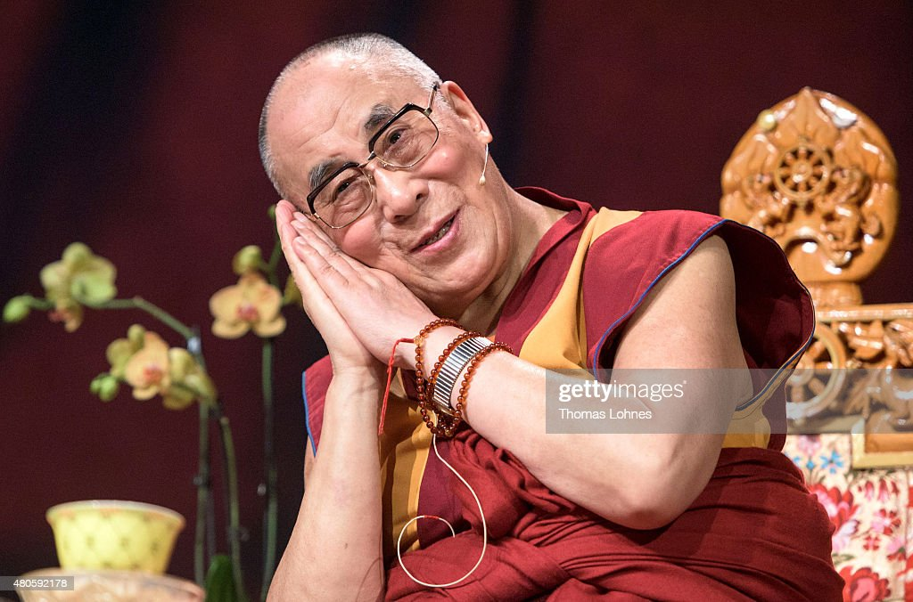 The XIV Dalai Lama attends 80th birthday celebrations at the 'Jahrhunderthalle' on July 13, 2015 in Frankfurt, Germany.