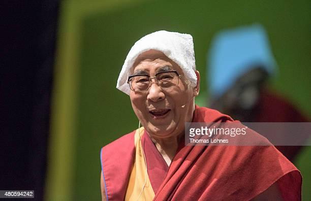 The XIV Dalai Lama attends 80th birthday celebrations at the 'Jahrhunderthalle' on July 13 2015 in Frankfurt Germany