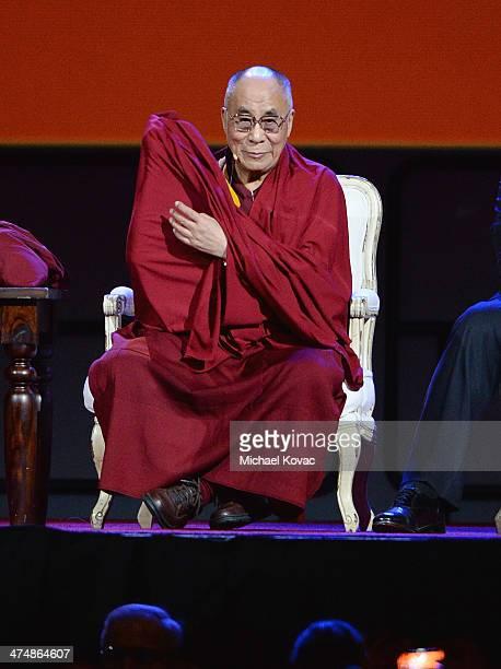 The XIV Dalai Lama speaks at The Forum on February 25 2014 in Inglewood California