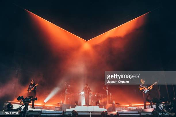 The XX perform on stage on Day 1 of Parklife festival at Heaton Park on June 9 2018 in Manchester England