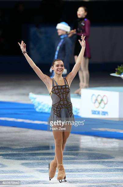 The XXII Winter Olympic Games 2014 in Sotchi Olympics Olympische Winterspiele Sotschi 2014 Adelina Sotnikova of Russia performs her free skating...