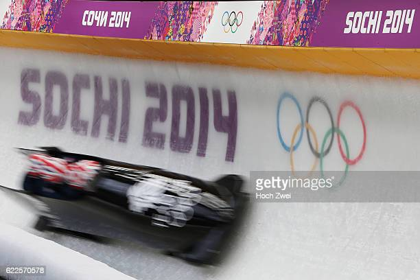 The XXII Winter Olympic Games 2014 in Sotchi Olympics Olympische Winterspiele Sotschi 2014 Official Training Fourman Bobsleigh Feature GBR