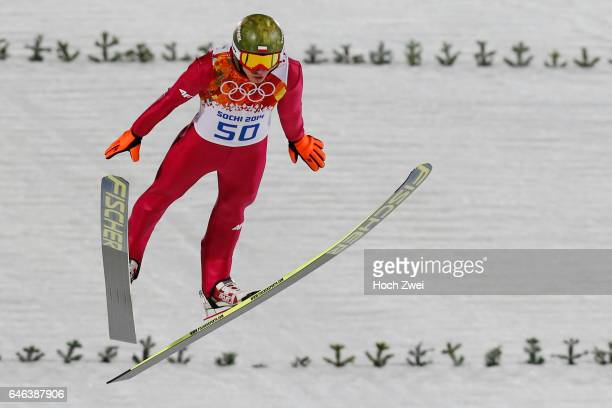 The XXII Winter Olympic Games 2014 in Sotchi Olympics Olympische Winterspiele Sotschi 2014 Mens Large Hill Individual Ski Jumping Kamil Stoch / POL