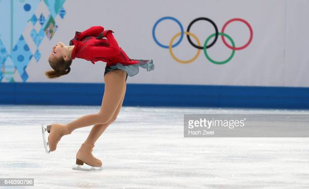 The XXII Winter Olympic Games 2014 in Sotchi Olympics Olympische Winterspiele Sotschi 2014 Yulia Lipnitskaia of Russia performs her free skating...
