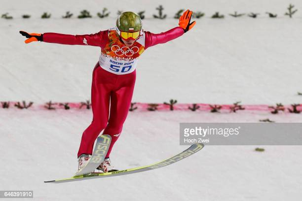 The XXII Winter Olympic Games 2014 in Sotchi, Olympics - Olympische Winterspiele Sotschi 2014, Mens Large Hill Individual - Ski Jumping - Kamil Stoch...