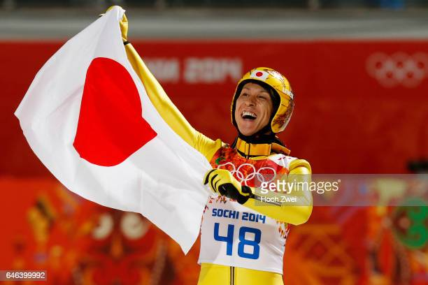 The XXII Winter Olympic Games 2014 in Sotchi Olympics Olympische Winterspiele Sotschi 2014 Men's Large Hill Individual Ski Jumping Noriaki Kasai / JPN