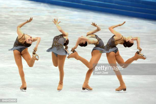 The XXII Winter Olympic Games 2014 in Sotchi Olympics Olympische Winterspiele Sotschi 2014 Adelina Sotnikova performs her free skating program during...