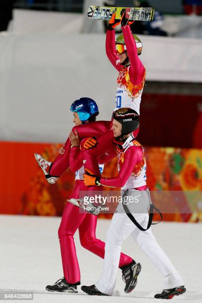 The XXII Winter Olympic Games 2014 in Sotchi Olympics Olympische Winterspiele Sotschi 2014 Men's Large Hill Individual Ski Jumping Kamil Stoch / POL