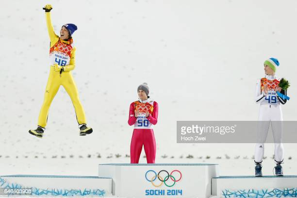 The XXII Winter Olympic Games 2014 in Sotchi Olympics Olympische Winterspiele Sotschi 2014 Men's Large Hill Individual Ski Jumping Noriaki Kasai /...