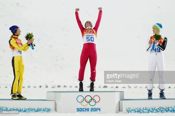 The XXII Winter Olympic Games 2014 in Sotchi Olympics Olympische Winterspiele Sotschi 2014 Men's Large Hill Individual Ski Jumping Noriaki Kasai /...