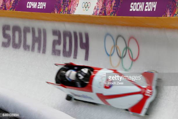 The XXII Winter Olympic Games 2014 in Sotchi Olympics Olympische Winterspiele Sotschi 2014 Official Training Fourman Bobsleigh Feature
