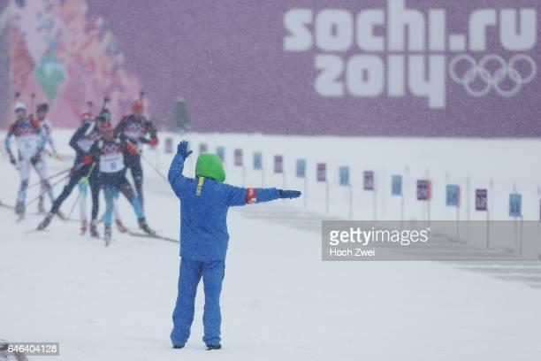 The XXII Winter Olympic Games 2014 in Sotchi Olympics Olympische Winterspiele Sotschi 2014 Men's 15km Mass Start Biathlon Biathlon Feature
